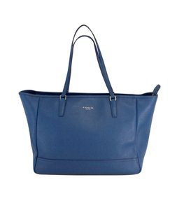 Coach Large Blue Leather Tote