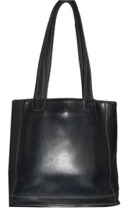 Coach Leather Tote in Navy Blue
