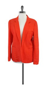Joie Orange Linen Open Front Blazer