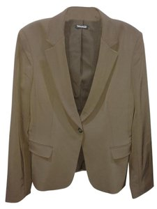 Tahari Dark Taupe Brown Blazer