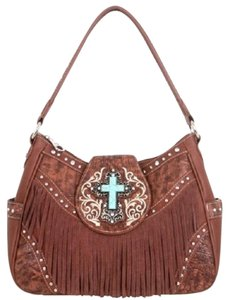 Montana West Fringe Spiritual Shoulder Bag