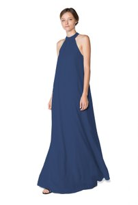 Joanna August NAVY - Tangled Up In Blue Elena Long Dress