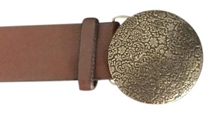 American Eagle Outfitters Distressed Gold Filigree Circle Buckle-American Eagle Outfitters