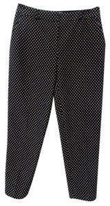 Kate Spade Leg Polka Dot Straight Pants Black