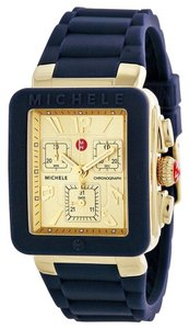 Michele Michele Park Jelly Bean Watch MWW06L000027 Navy Gold Tone Chronograph