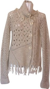 FREE PEOPLE Fringed Oatmeal Sweater