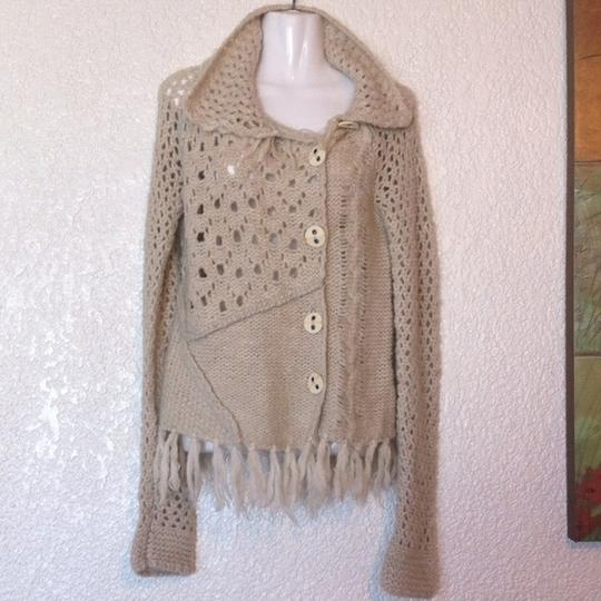 Free People Mixed Stitch Fringed Sweater - 35% Off Retail 70%OFF