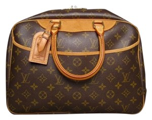 Louis Vuitton Monogram Canvas Deauville Vanity Handbag Satchel in Brown