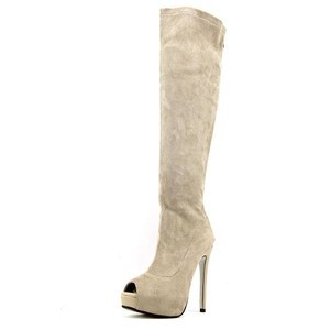 Luichiny Hot Sexy Over The Knee Thigh High Grey Boots