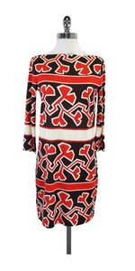 Diane von Furstenberg short dress Red Black Silk on Tradesy