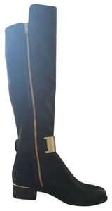 Calvin Klein Gold Knee-high Black Boots