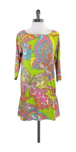 Trina Turk short dress Neon Paisley Butterfly Print on Tradesy