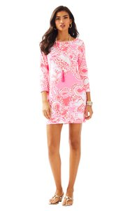 Lilly Pulitzer short dress Hot Coral Marlow Marlowe Trunk In Love on Tradesy