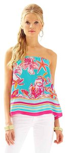 Lilly Pulitzer Odessa Strapless Tube Top Sea Blue