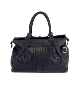 Rebecca Minkoff Black Leather Double Handle Hobo Bag