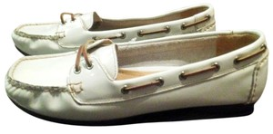 Sperry White Patent Leather Flats