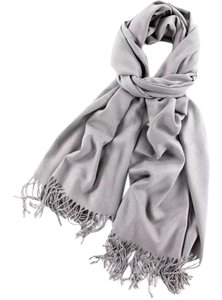 Cashmere Pashmina Group Silver Gray Cashmere Wool Scarf