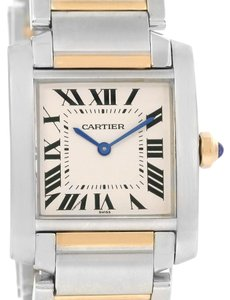 Cartier Cartier Tank Francaise Midsize Steel 18k Gold Quartz Watch W2TA0003
