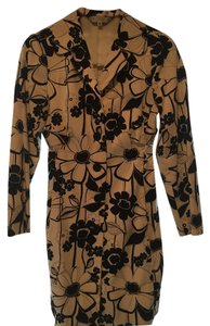 Trina Turk Spring Trench Black & White Floral Jacket