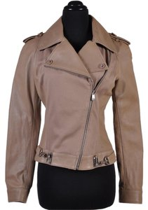 Versace Leather Beige Leather Jacket