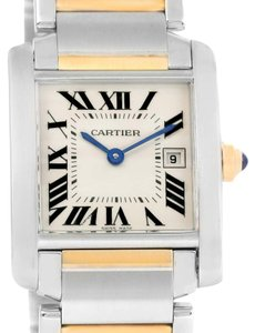 Cartier Cartier Tank Francaise Midsize Steel 18k Gold Quartz Watch W51012Q4