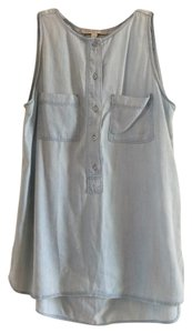 Ann Taylor LOFT Button Down Shirt Light chambray
