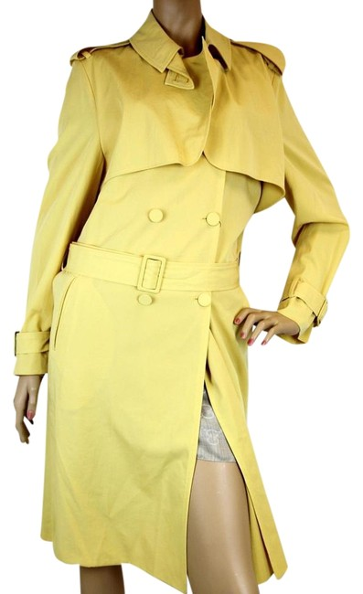 Item - Yellow New Women's Wool Trench Coat 44 307691 9441 Jacket Size 8 (M)