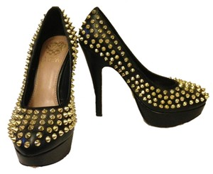 Vince Camuto Studded Ultra High Black Pumps