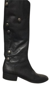 Arturo Chiang Leather Black Boots