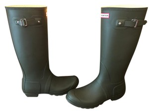 Hunter Dark Olive Boots