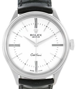 Rolex Rolex Cellini Time 18K White Gold Mens Watch 50509 Box Papers