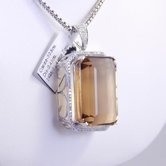 Other GORGEOUS LARGE CITRINE PENDANT WITH MICRO SET DIAMONDS AROUND