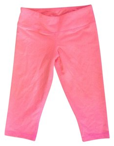 American Apparel Knee Length Everyday Fitness Pant in Coral