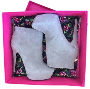 Betsey Johnson Bootie Taupe Boots