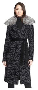 St. John Grey black leopard Jacket