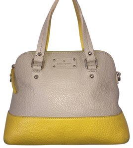 Kate Spade Handbag Leather Beige Satchel in Yellow/Beige