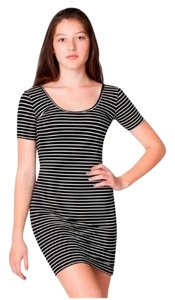 American Apparel short dress Black Striped Striped Mini Bodycon Fall on Tradesy