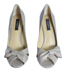 Ann Taylor Patent Leather Patent Leather Peep Toe Tan Pumps