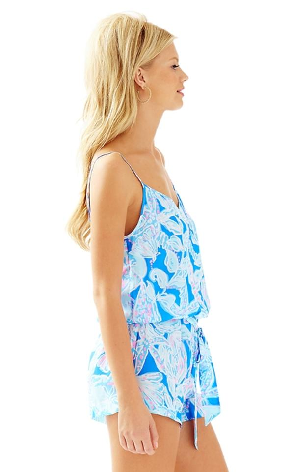 af34c2c52c3f Lilly Pulitzer Deanna Bay Blue Into The Deep Romper Jumpsuit - Tradesy