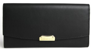 Burberry Burberry Black Smooth Leather Porter Flap Wallet
