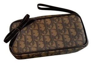 Dior Classic Exclusive Italian Vintage Wristlet in Brown