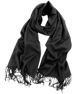 Cashmere Pashmina Group Black* Cashmere Wool Scarf