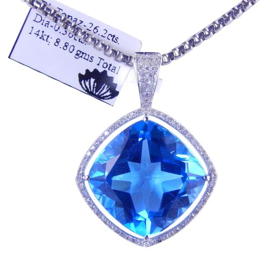 Preload https://item4.tradesy.com/images/white-cushion-shape-blue-topaz-pendant-with-micro-set-diamonds-necklace-1968208-0-0.jpg?width=440&height=440