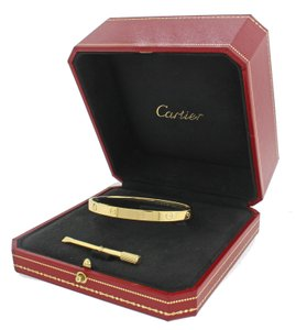 Cartier Cartier 18K Gold New Style Screw Love Bangle Bracelet Size 19 BP