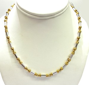 Scott Kay SCOTT KAY TWO TONE PLATINUM & 18K Gold NECKLACE