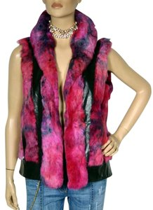 Versace Leather Fur Vest