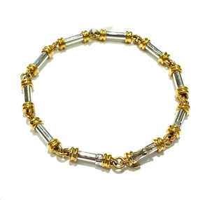 Scott Kay SCOTT KAY TWO TONE PLATINUM & 18K Gold Bracelet 7