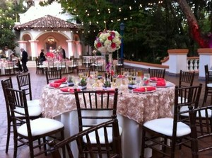 Champagne Tableclothe Overlays