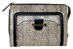 Jason Wu New Snake Black & Nude Clutch