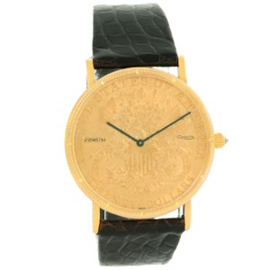 Corum Corum 20 Dollars Double Eagle Yellow Gold Coin Black Strap Watch